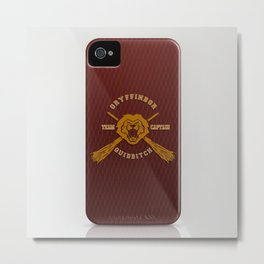 Gryffindor quidditch team iPhone 4 4s 5 5c, ipod, ipad, pillow case, tshirt and mugs Metal Print