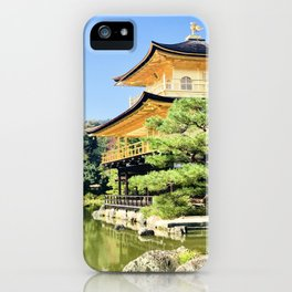Castle in gold iPhone Case