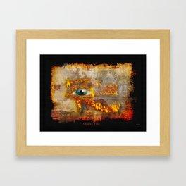 Desert Fire - Eye of Horus Framed Art Print