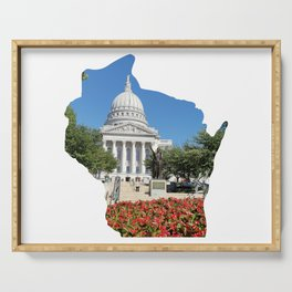 Beautiful Capitol Building in Wisconsin Serving Tray