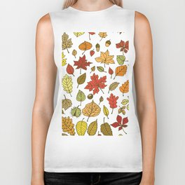Autumn leaves, berries and nuts Biker Tank