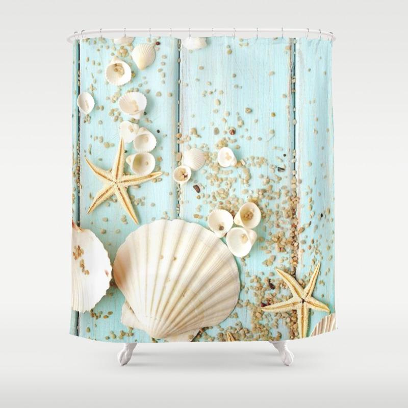 Seashells Shower Curtain By