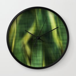 Green Palm Leaves Impression II Wall Clock