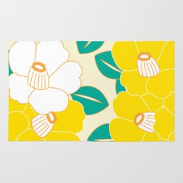 Shades of Tsubaki - Yellow & White Rug