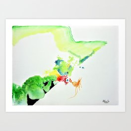 Chicken Thought Art Print