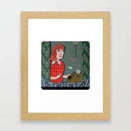 The Writer Framed Art Print