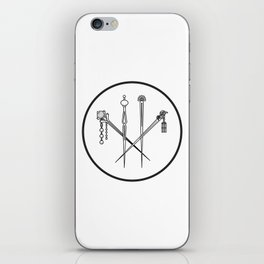 Lulu hairpins iPhone Skin