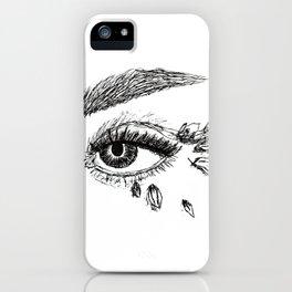Fierce Eye - Black iPhone Case