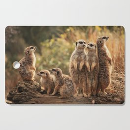 Meerkat Family Photography Cutting Board