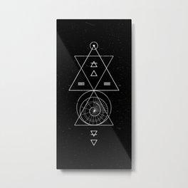 Espiral Triangle Black Metal Print