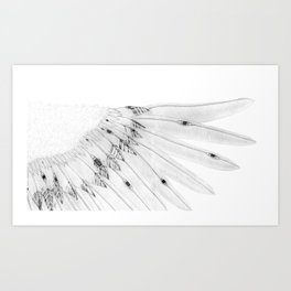 Angel Wing or Living Creature Wing Art Print