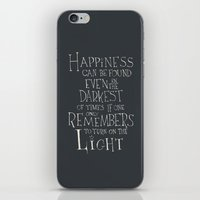 "dumbledore iPhone & iPod Skins featuring Harry Potter - Albus Dumbledore quote ""Happiness""  by SimpleSerene"