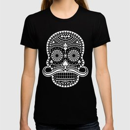 Black Skull  White Suits T-shirt