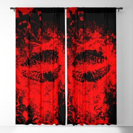 Gothic Bloody Kiss Blackout Curtain