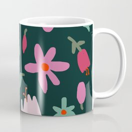 Handmade Out In the Forest Floral Patter Coffee Mug