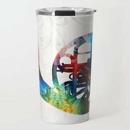 Colorful French Horn - Color Fusion By Sharon Cummings Travel Mug