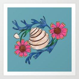 Pawleys Island Shell Art Print