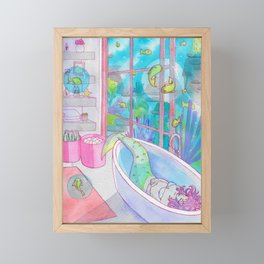 Bath (Mermay 2019) Framed Mini Art Print