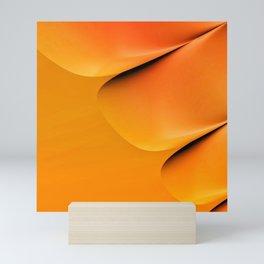 Pumpkin Orange fractal  Mini Art Print