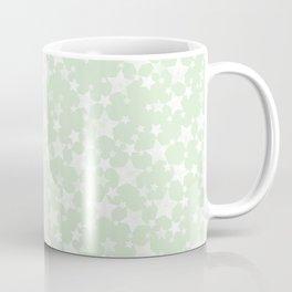 Magical Mint Green and White Stars Pattern Coffee Mug