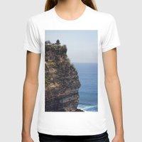 bali T-shirts featuring Uluwatu Temple Bali by Rachel's Pet Portraits