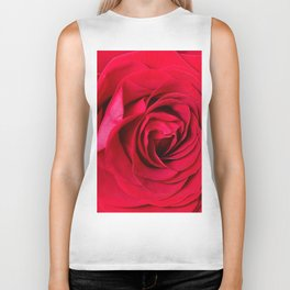 Red Rose Close-up #decor #society6 #buyart Biker Tank