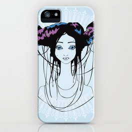 Gum in my hair iPhone Case