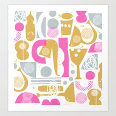 funky jazz Art Print