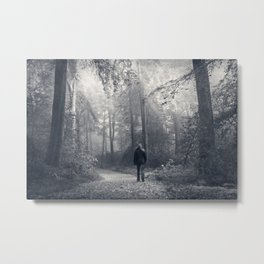 in the forest of light Metal Print