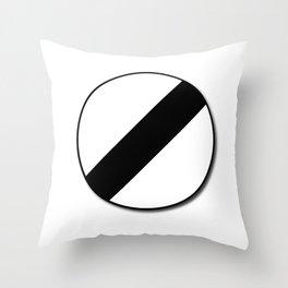 Derestriction Traffic Sign Throw Pillow