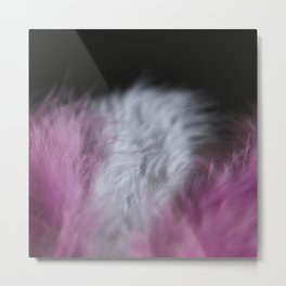 Feathers pink and white Metal Print