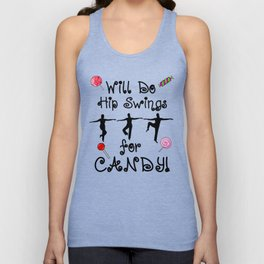 Ballet Barre Workout Dance for Candy Unisex Tank Top