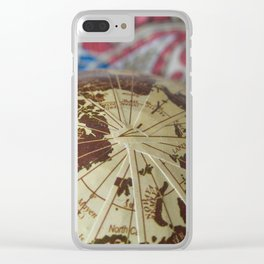 Cartographic Imperfections Clear iPhone Case