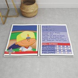 Pablo Sanchez Stat Card -Backyard Baseball Rug