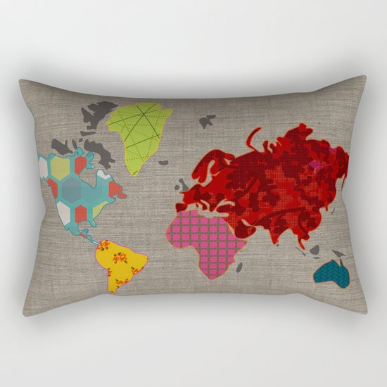 Simi's Map of the World Rectangular Pillow