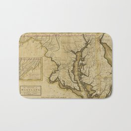 Map of the State of Maryland (1795) Bath Mat