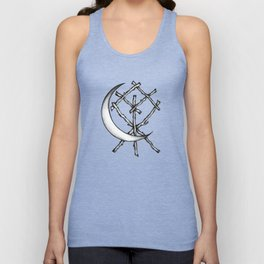 Crescent Moon Rune Binding Unisex Tank Top