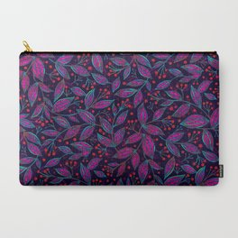 RED BERRIES PINK LEAVES Carry-All Pouch