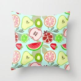 cut fruit Throw Pillow