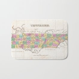 Vintage Map of Tennessee (1827) Bath Mat