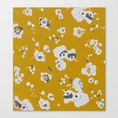 mustard poppies Canvas Print