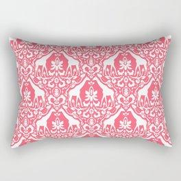 Giraffe Damask Coral Rectangular Pillow