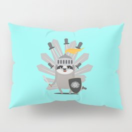 Medieval Sloth King with swords T-Shirt Pillow Sham