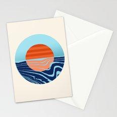 Sweetness - retro minimal 70s style throwback sunset sunrise ocean socal art Stationery Cards