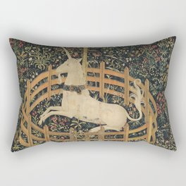 The Unicorn in Captivity (from the Unicorn Tapestries) Rectangular Pillow