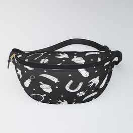 A Little Luck - on Black Fanny Pack