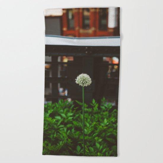 New York Garden Beach Towel