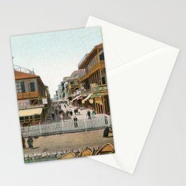 Vintage Egypt, port Said Commerce Street Stationery Cards