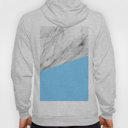 Marble and Blue Color Hoody