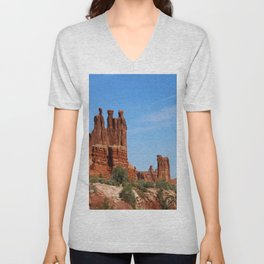 Three Gossips Arches National Park Unisex V-Neck